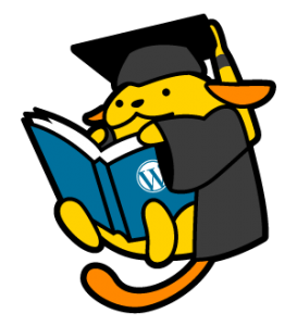 Eduwapuu, the mascot of the WordPress in Higher Ed community