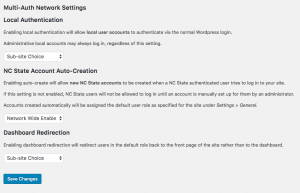 We use the NC State Multiauth plugin with auto-account creation enabled.