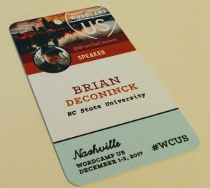Brian DeConinck's WordCamp US badge.